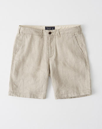 3d8c5c9cd9 Shorts con parte delantera lisa en lino
