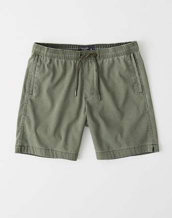 d76b4f0b1 All-Wear Pull-On Shorts, OLIVE GREEN