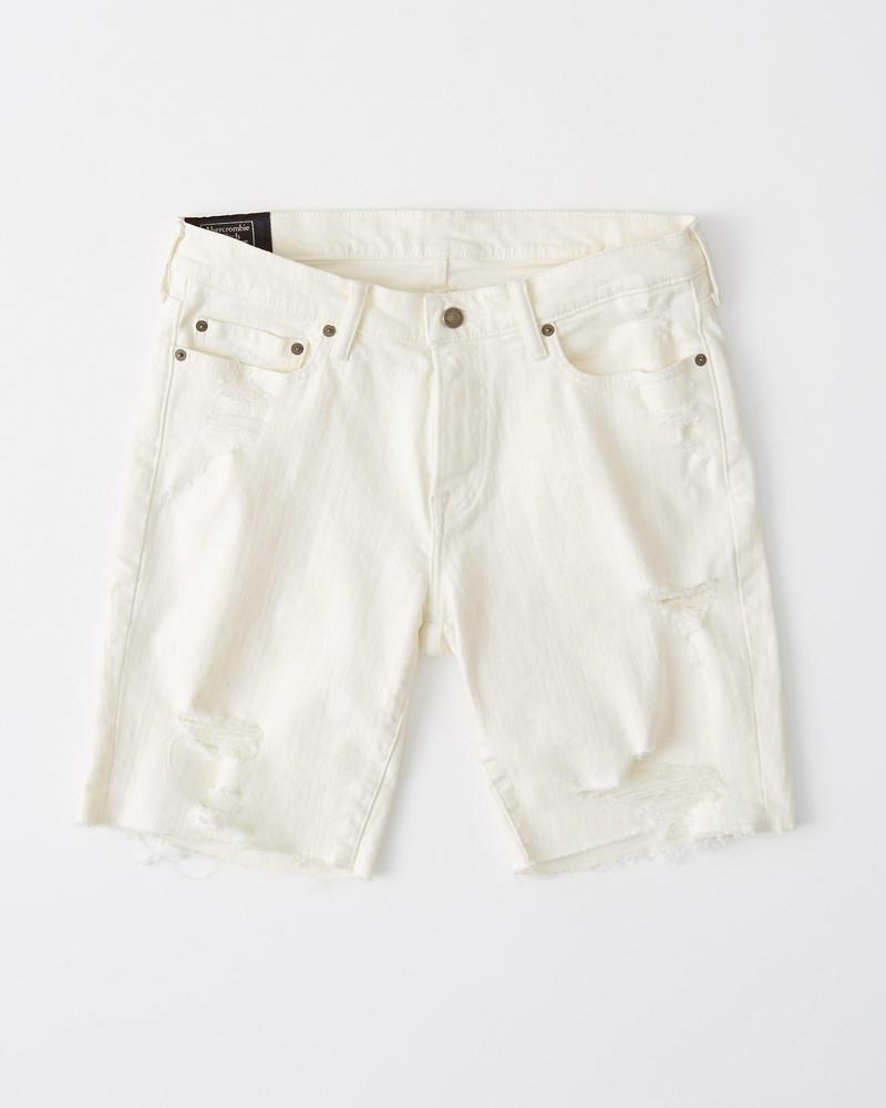 1268db1693f63 Homme Short en jean blanc | Homme Liquidation | Abercrombie.com