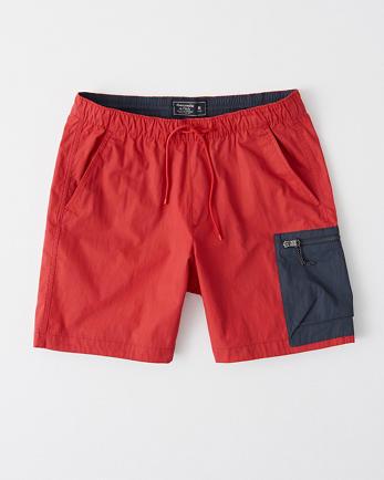 ANFColorblock Nylon-Blend Pull-On Shorts