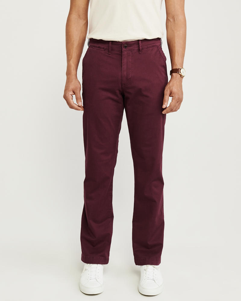 a7896b4f7a01fe Uomo Pantaloni chino straight | Uomo Pezzi di sotto | Abercrombie.com