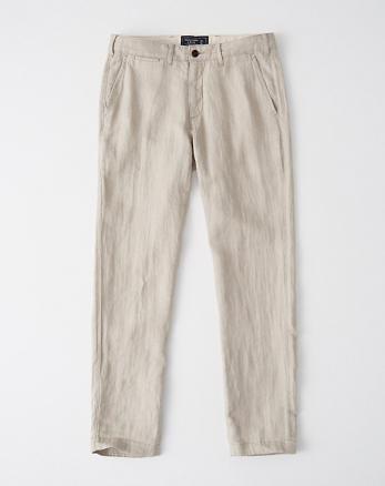 39cb69441d Pantalones ajustados de lino