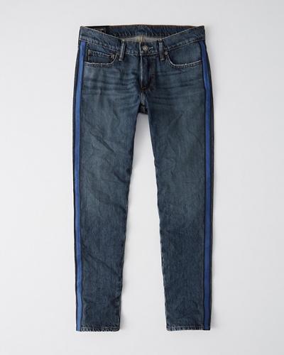 Mens Super Skinny Side Stripe Jeans Mens Bottoms
