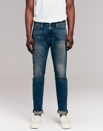 a5e7a04ada88 Super skinny jeans irregolari, LAVAGGIO SCURO CON RAMMENDI