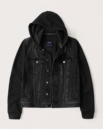 ANFHooded Denim Jacket