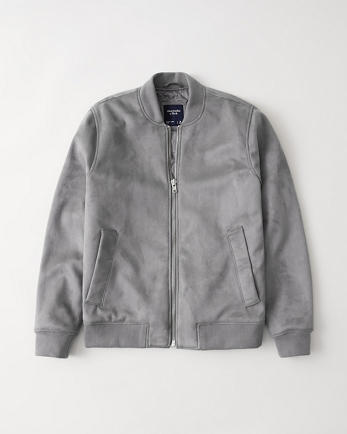 ANFThe Faux Suede Bomber