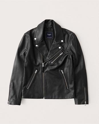 ANFGenuine Leather Biker Jacket