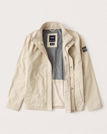 ANFFleece-Lined Mock Neck Jacket