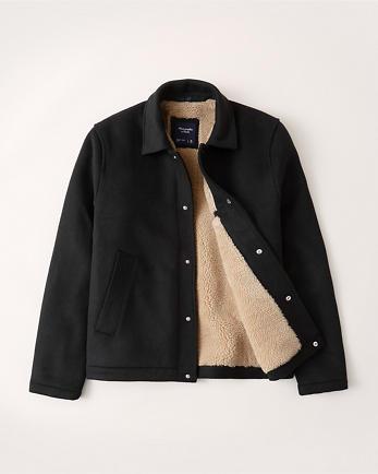 ANFSherpa-Lined Wool Shirt Jacket