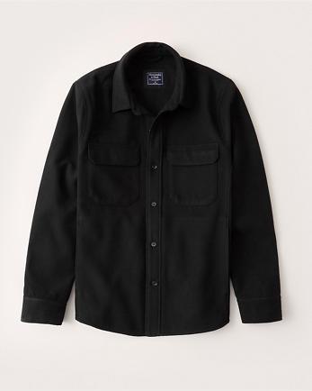 ANFCozy Shirt Jacket