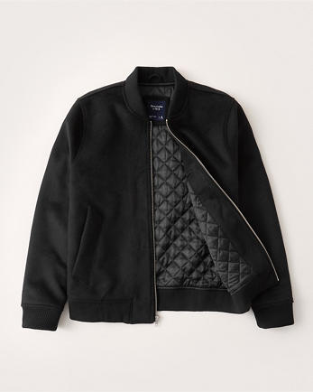 ANFWool-Blend Bomber Jacket