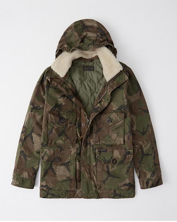 3e03942815902 Mens Removable Sherpa Camo Combat Jacket | Mens Clearance ...
