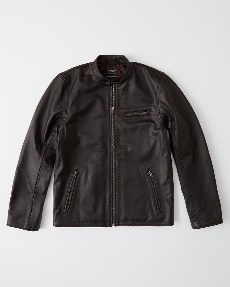 Leather Jacket by Abercrombie & Fitch