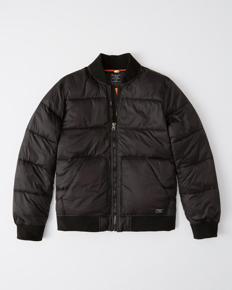 Puffer Bomber Jacket by Abercrombie & Fitch