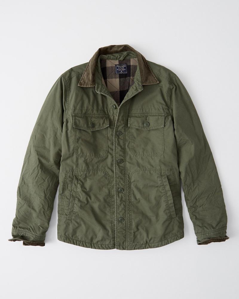 Corduroy Collar Shirt Jacket Abercrombie Sg