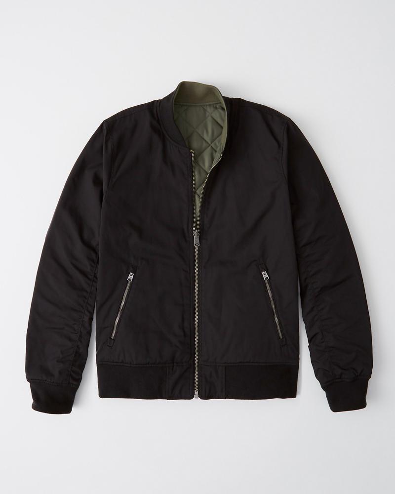 94bec5eef Mens Reversible Bomber Jacket | Mens Jackets & Coats | Abercrombie.com