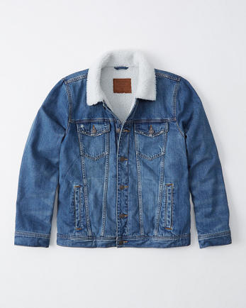ANFSherpa-Lined Denim Jacket