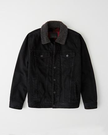 ANFSherpa-Lined Trucker Jacket