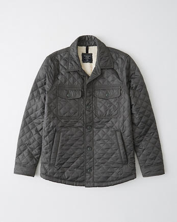 ANFQuilted Shirt Jacket