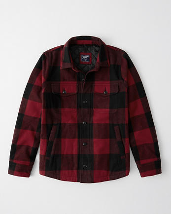 ANFFlannel Shirt Jacket