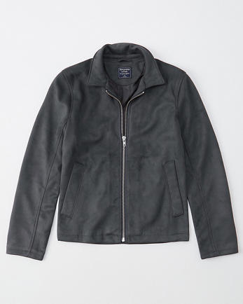 ANFFaux Suede Trucker Jacket
