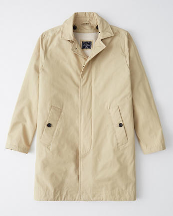 ANFHooded Sherpa-Lined Trench Coat