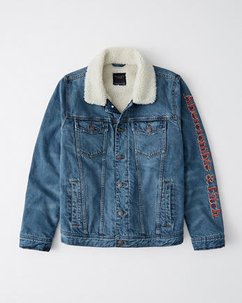 ANFLimited Edition Sherpa-Lined Denim Jacket