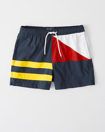 71cff5ce61 Classic Trunks, NAVY BLUE WITH YELLOW