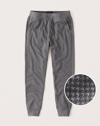 ANFHoundstooth Terry Joggers