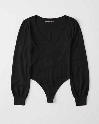 ANFCozy Puff-Sleeve Bodysuit
