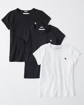 ANFShort-Sleeve Icon Crew Tee Multipack