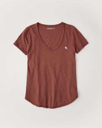 ANFDrapey V-Neck Icon Tee