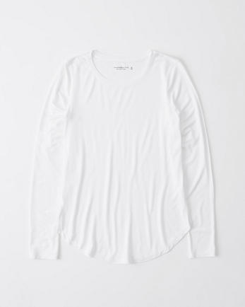 ANFLong-Sleeve Drapey Tee