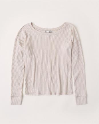 ANFLong-Sleeve Slouch Tee