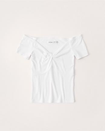 ANFOff-The-Shoulder Slim Tee