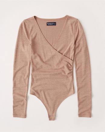 ANFLong-Sleeve Wrap Bodysuit