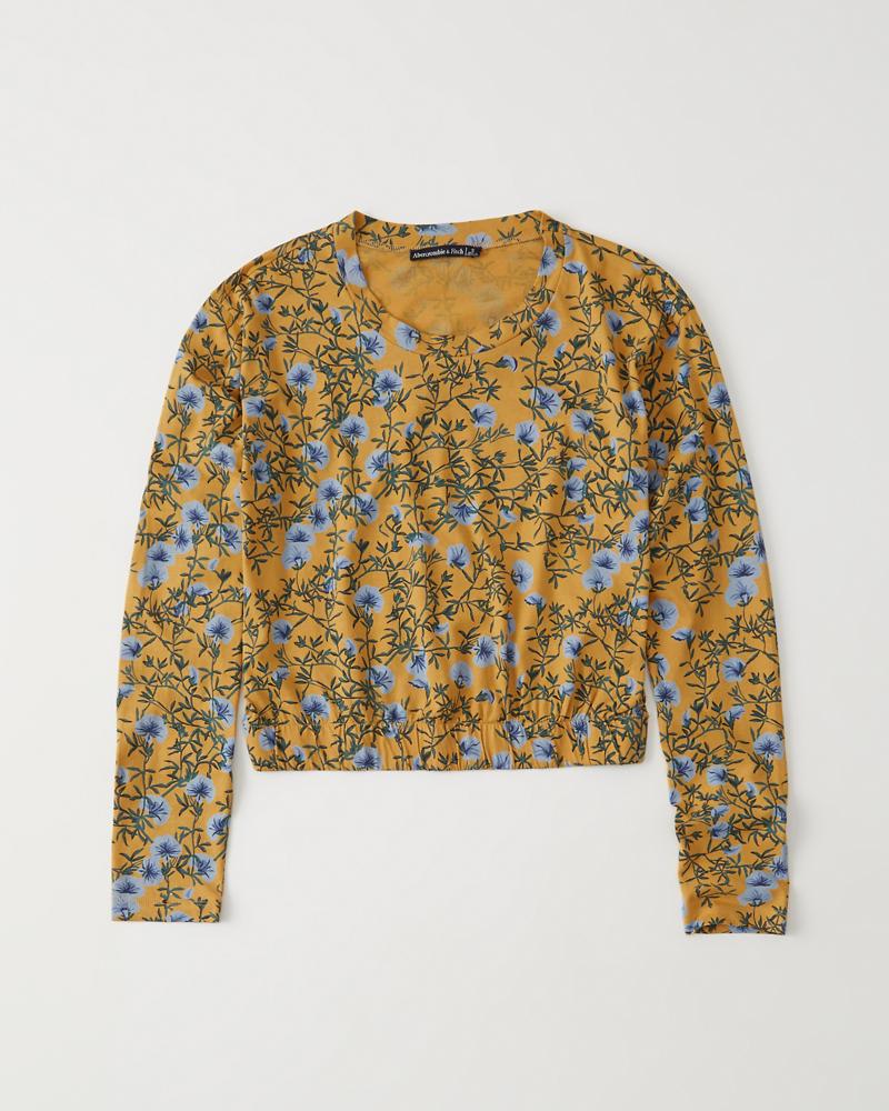 5623763c4afc5d Dames T-shirt met lange mouwen en print | Dames Sale | Abercrombie.com