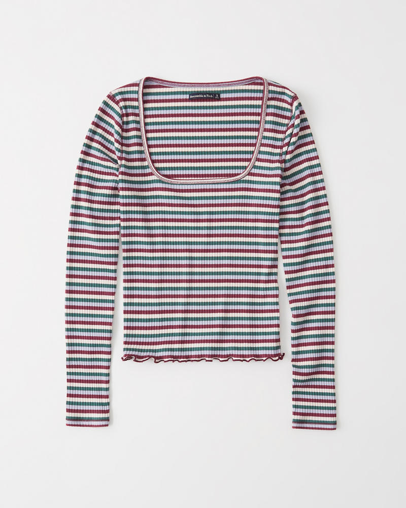 7a368bfad Long-Sleeve Square Neck Tee | Abercrombie.sg