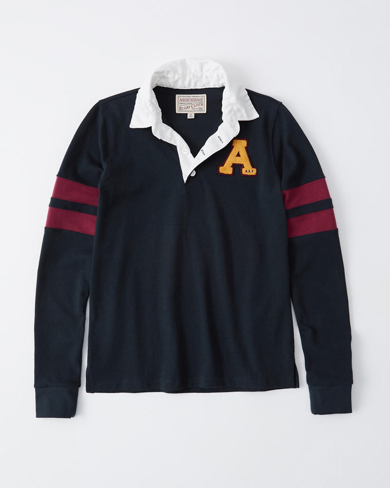 Rugbypolo Met Lange Mouwen by Abercrombie & Fitch