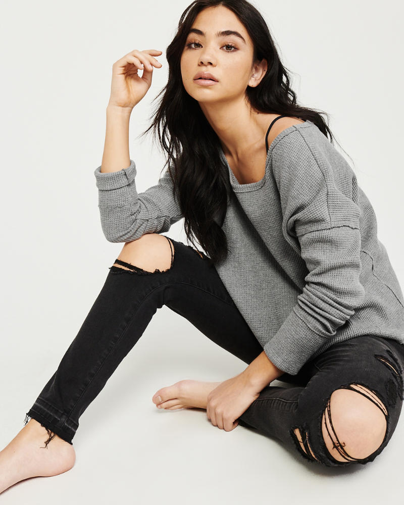Thermal Crewneck Top by Abercrombie & Fitch