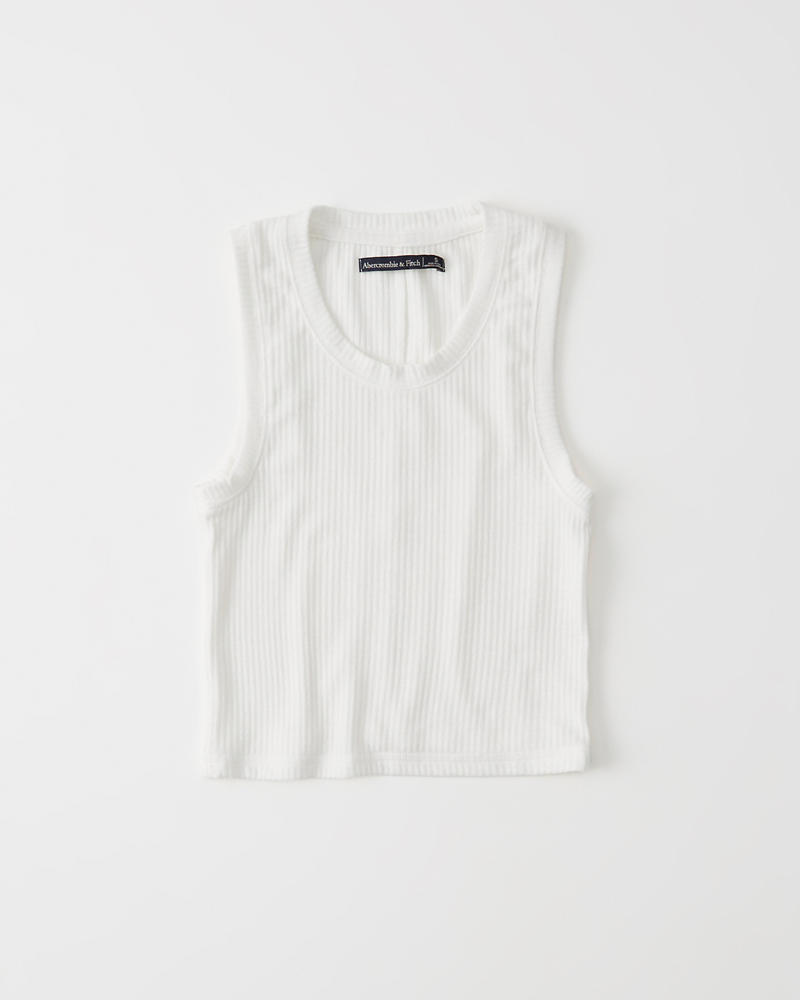 Ribbed Crew Tank by Abercrombie & Fitch