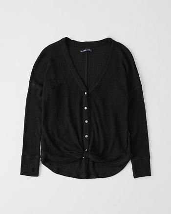 Cozy Tie Front Button Up by Abercrombie & Fitch