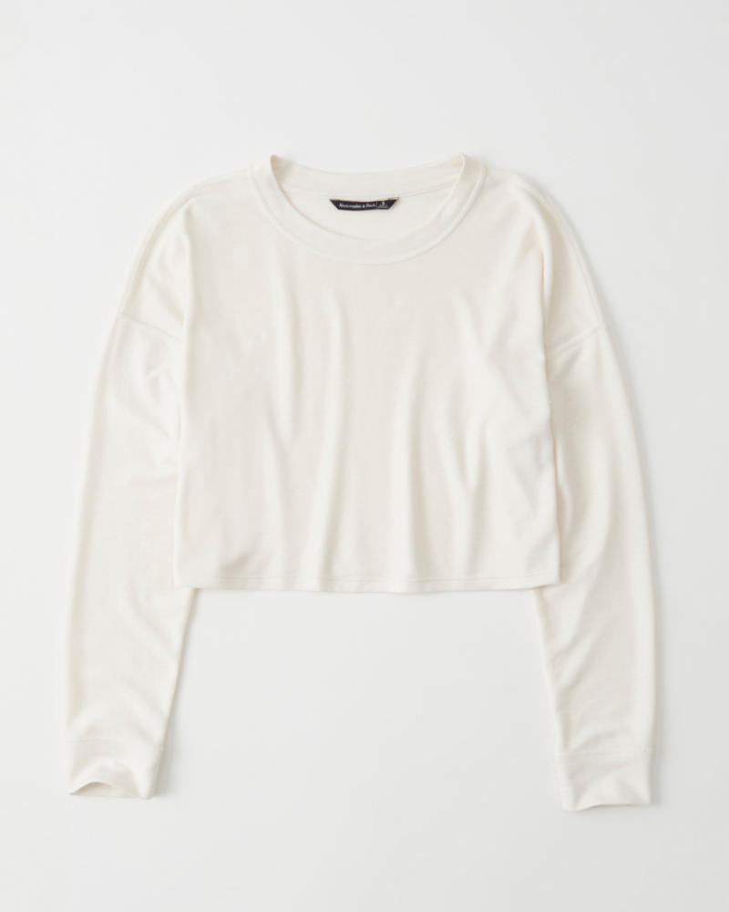 Mujer Long-Sleeve Cropped Tee  949e222331e35