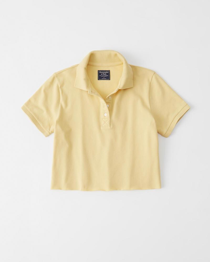 061f1c6c Short-Sleeve Cropped Polo   Abercrombie.com.hk