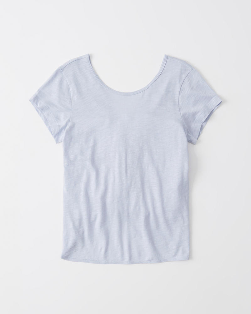 a6c943a5ab2 Womens Soft A&F Knotted Tee | Womens Tops | Abercrombie.com