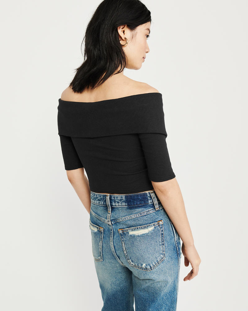 Mujer Ribbed Off-The-Shoulder Top  c4eb6ff7a6989