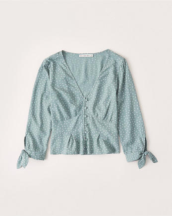 ANFTie-Sleeve Blouse
