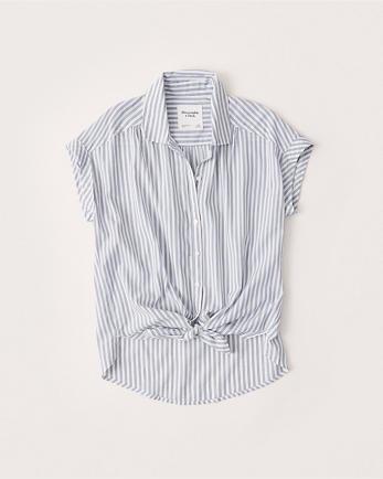 ANFShort-Sleeve Poplin Shirt