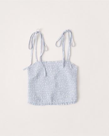 ANFTie-Strap Smocked Cami