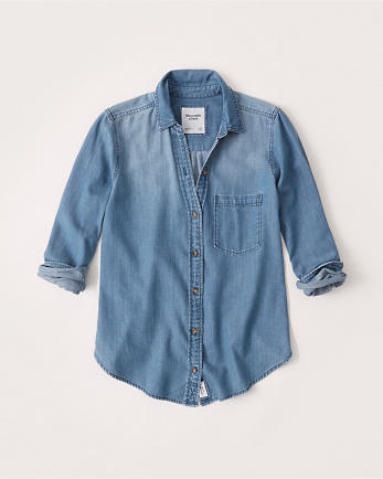 ANFBoyfriend Chambray Shirt